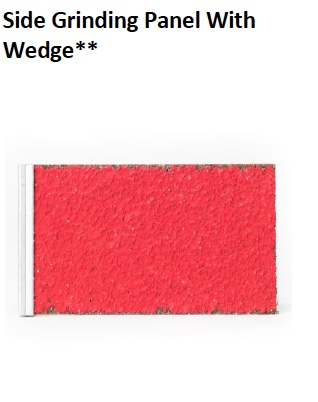 PICOTE SIDE GRINDING PANEL WITH WEDGE