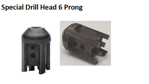 SPECIAL DRILL HEAD 6 PRONG